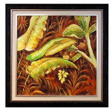 Green Artisia Framed Original Painting