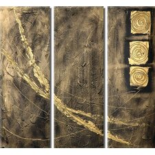 Paths 3 Piece Original Painting on Canvas Set
