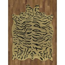 Animal Hide Yellow/Black Tiger Rug