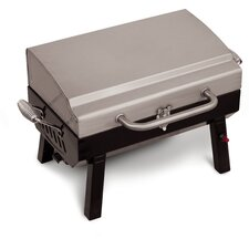 Portable Tabletop Gas Grill with Stainless Steel Lid