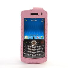 Blackberry Pearl Leather Case in Pink