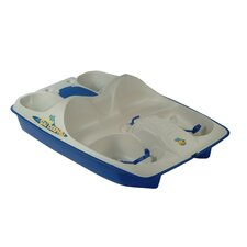 Sun Dolphin Five Person Pedal Boat in Cream / Blue