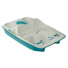 Sun Dolphin Five Person Pedal Boat in Cream / Teal