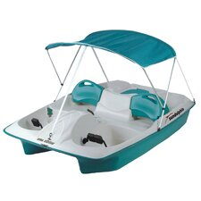 Sun Slider Five Person Pedal Boat with Adjustable Seats and Canopy