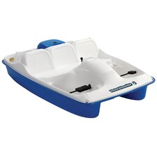 Water Wheeler Five Person Pedal Boat in Cream / Blue