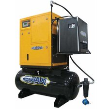 120 Gallon 10 HP 3PH Dual Volt Rotary Screw Air Compressor