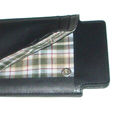 <strong>Boconi</strong> Collins Calf iSheath Mobile Wallet in Black with Green Plaid