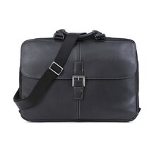 Tyler Tumbled Portfolio Leather Laptop Briefcase