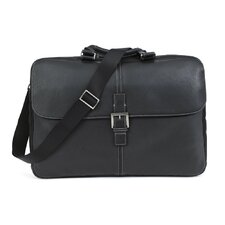 Tyler Tumbled Dispatche Slim Leather Laptop Briefcase