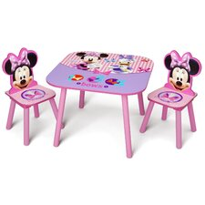 <strong>Delta Children</strong> Minnie Mouse Kids' 3 Piece Table and Chair Set