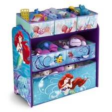 Little Mermaid Multi-bin Toy Organizer