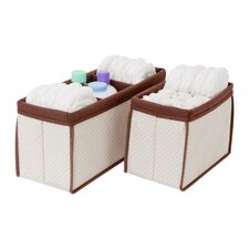 2 Piece Nursery Organizer Bin Set