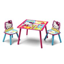 Hello Kitty Kids 3 Piece Table and Chair Set