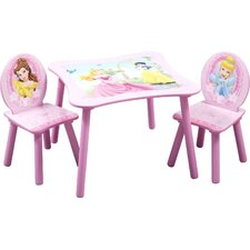 Disney Princess Kid's 3 Piece Table and Chair Set