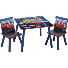 Disney Pixar's Cars Kids' 3 Piece Table and Chair Set