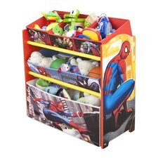 Spiderman Multi Bin Toy Organizer