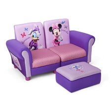 Disney Minnie Mouse Kids Sofa and Ottoman