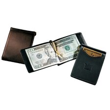 <strong>Andrew Philips</strong> Florentine Napa Single Money Clip with Outside Pocket