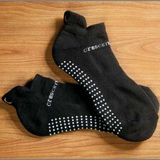 ExerSock Large Yoga and Pilates Socks in Black (3-Pack)