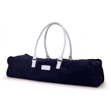 <strong>Crescent Moon</strong> Metro Yoga Bag in Navy / White