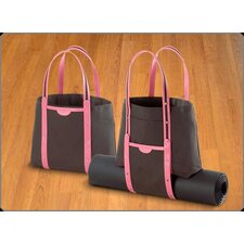 <strong>Crescent Moon</strong> Convertible Tote in Black and Pink