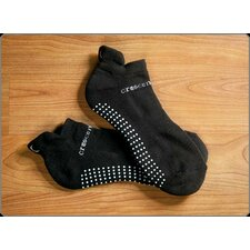 <strong>Crescent Moon</strong> ExerSock Large Yoga and Pilates Socks in Black