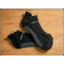 ExerSock Xlarge Yoga and Pilates Socks for Men in Black (3-Pack)