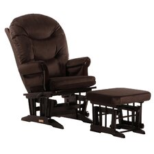 Soft Microfiber Sleigh Multi Position Recline Glider and Nursing Ottoman