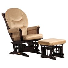 Sleigh Glider with Rounded Cushion and Ottoman