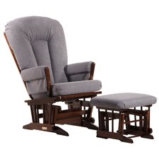 Soft Two Post Glider and Ottoman