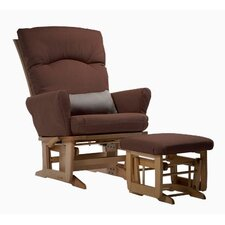 Grand Modern Multi-Position Recline Glider and Ottoman