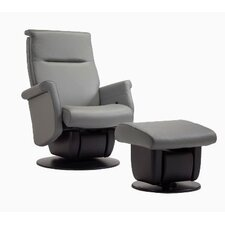 Quebec Multi-Position Recliner and Ottoman