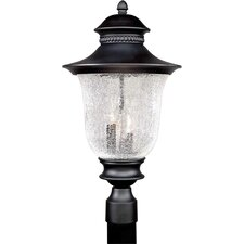 "Outdoor 3 Light 12"" Cast Aluminum Post Lantern"