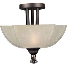 <strong>Forte Lighting</strong> 2 Light Semi Flush Mount