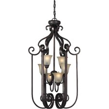 <strong>Forte Lighting</strong> 6 Light Foyer Pendant