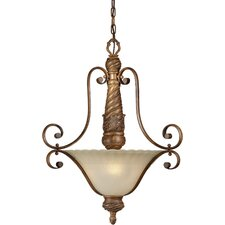 <strong>Forte Lighting</strong> 3 Light Inverted Pendant