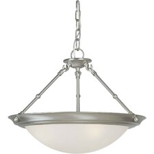 <strong>Forte Lighting</strong> 3 Light Convertible Inverted Pendant