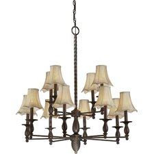 <strong>Forte Lighting</strong> 12 Light Chandelier
