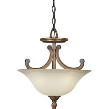 3 Light Convertible Inverted Pendant
