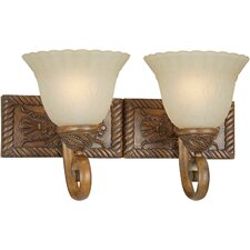<strong>Forte Lighting</strong> 2 Light Vanity Light