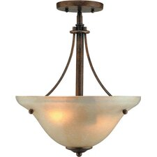 <strong>Forte Lighting</strong> 2 Light Sloped Semi Flush Mount