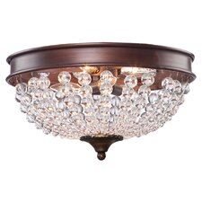 Cobochon 2 Light Flush Mount