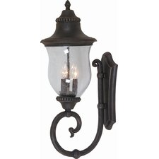 Premiere 3 Light Outdoor Up Light Wall Lantern