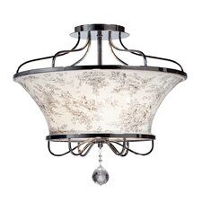 St. Tropez (Toile) 4 Light Semi Flush Mount