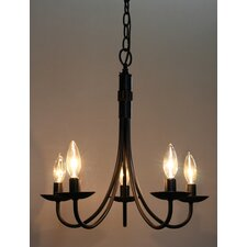 Pot Racks 5 Light Chandelier