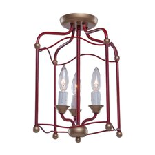Scarlet 3 Light Semi Flush Mount