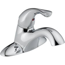 Classic Centerset Bathroom Faucet with Single Handle and Diamond Seal Technology