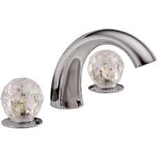 Classic Garden Double Handle Deck Mount Roman Tub Faucet