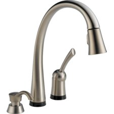 Pilar Pull-Down Single Handle Widespread Kitchen Faucet with Touch Technology