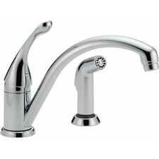 Collins Single Handle Widespread Kitchen Faucet with Integrated Supply Tubes and Diamond Seal Technology